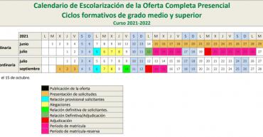calendario matriculación 20-21